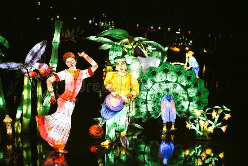 Κήποι του φωτός στο Μόντρεαλ στοκ φωτογραφίες