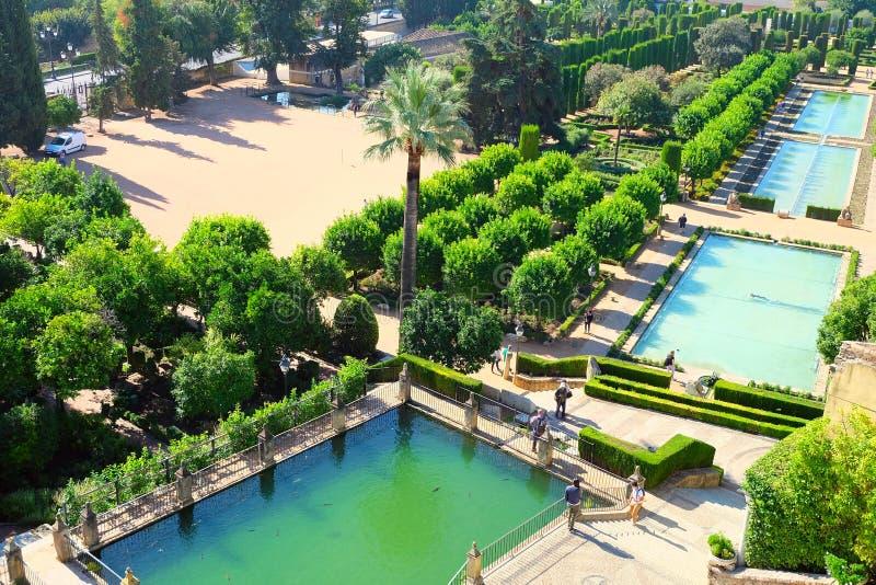 Κήποι του Alcazar Castle, Κόρδοβα στοκ φωτογραφία με δικαίωμα ελεύθερης χρήσης