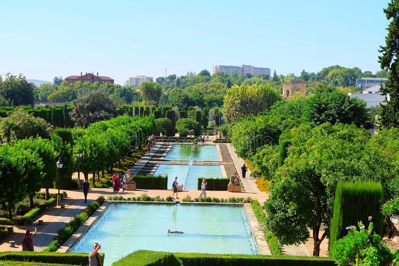 Κήποι του Alcazar Castle, Κόρδοβα στοκ εικόνα με δικαίωμα ελεύθερης χρήσης