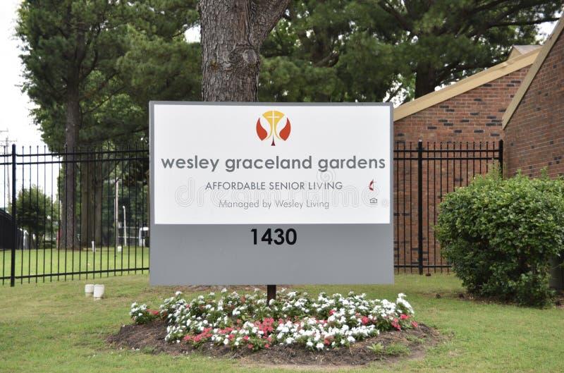 Κήποι του Wesley Graceland, προσιτή ανώτερη διαβίωση, Μέμφιδα, TN στοκ εικόνες