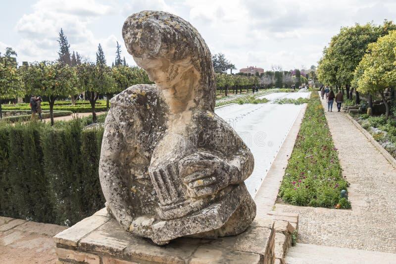 Κήποι Alcazar de Los Reyes Cristianos στην Κόρδοβα, Ισπανία στοκ φωτογραφία