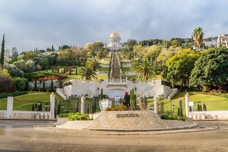 Κήποι Bahai, πόλη της Χάιφα, Ισραήλ στοκ φωτογραφία