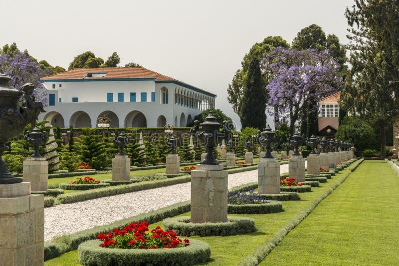 Κήποι Bahai στο στρέμμα, Ισραήλ στοκ εικόνα με δικαίωμα ελεύθερης χρήσης