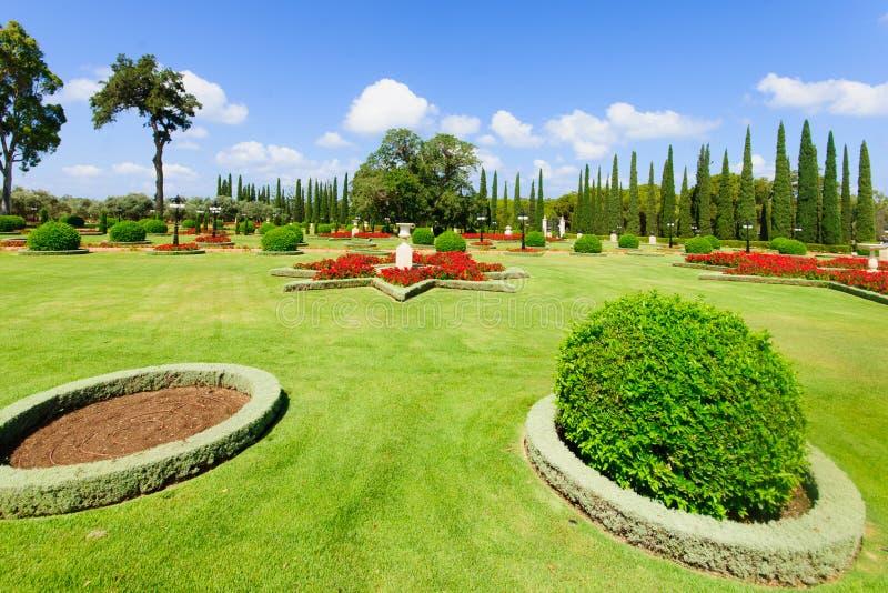 Κήποι Bahai, στρέμμα στοκ εικόνες με δικαίωμα ελεύθερης χρήσης