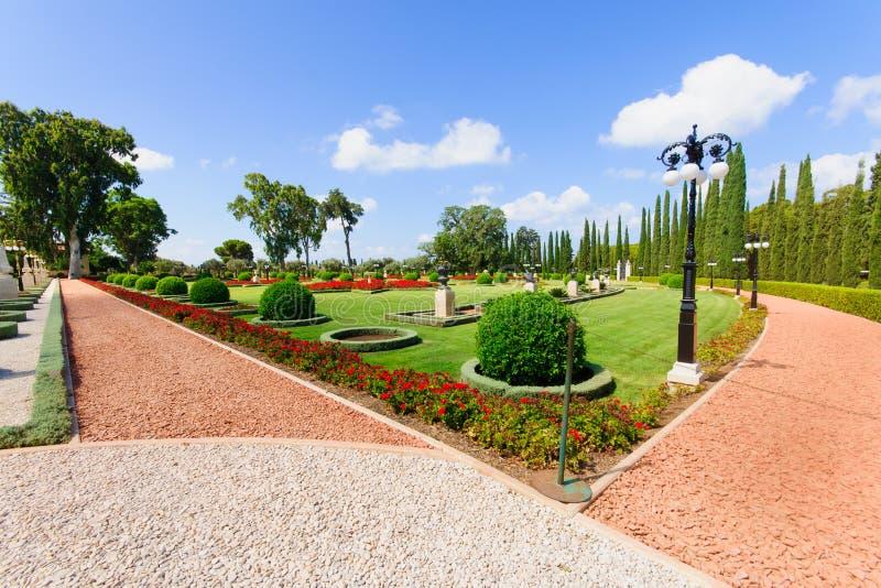 Κήποι Bahai, στρέμμα στοκ φωτογραφία με δικαίωμα ελεύθερης χρήσης