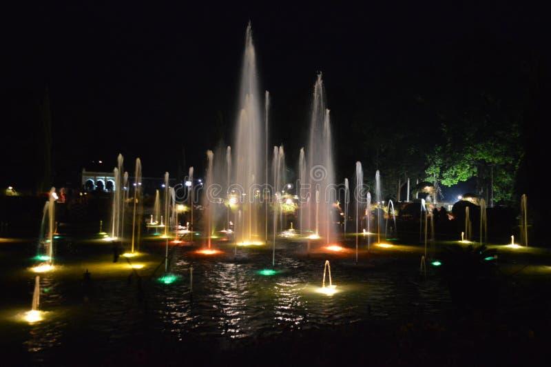 Κήποι Brindavan, Mysore, Karnataka στοκ φωτογραφίες