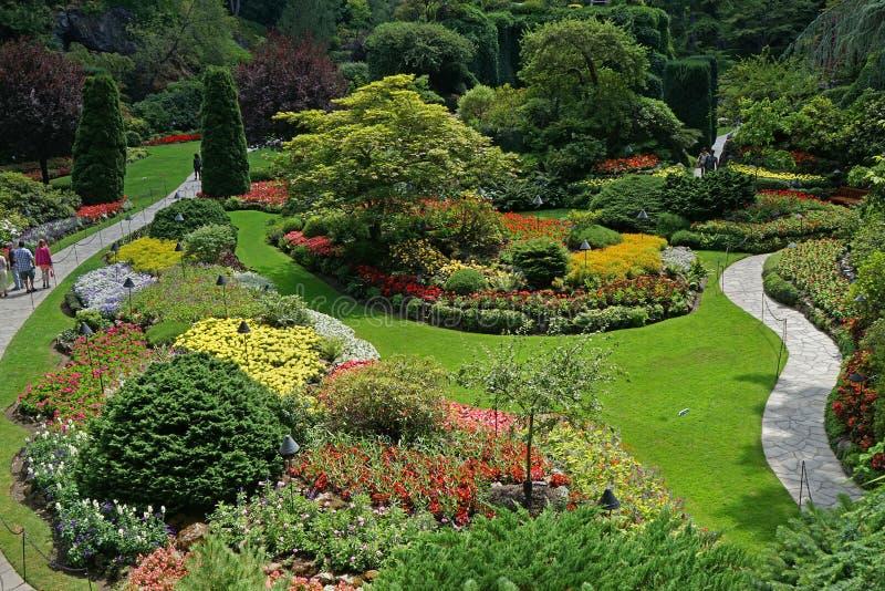 Κήποι Butchart στοκ εικόνες με δικαίωμα ελεύθερης χρήσης