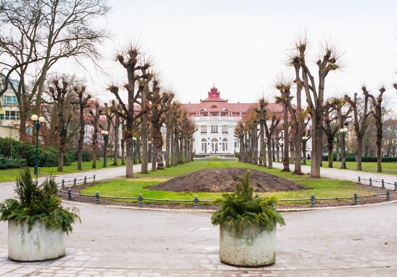 Κήποι Smetana - Smetanovy sady στο Κάρλοβυ Βάρυ _ στοκ εικόνες με δικαίωμα ελεύθερης χρήσης