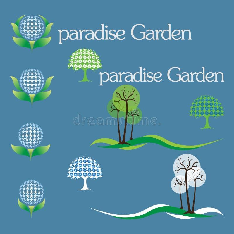 κήπος Ίντεν διανυσματική απεικόνιση