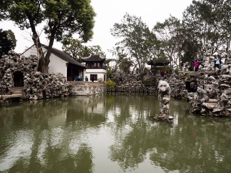 Κήπος αλσών λιονταριών, ένας κλασσικοί κινεζικοί κήπος και ένα μέρος της παγκόσμιας κληρονομιάς της ΟΥΝΕΣΚΟ σε Suzhou στοκ εικόνα με δικαίωμα ελεύθερης χρήσης