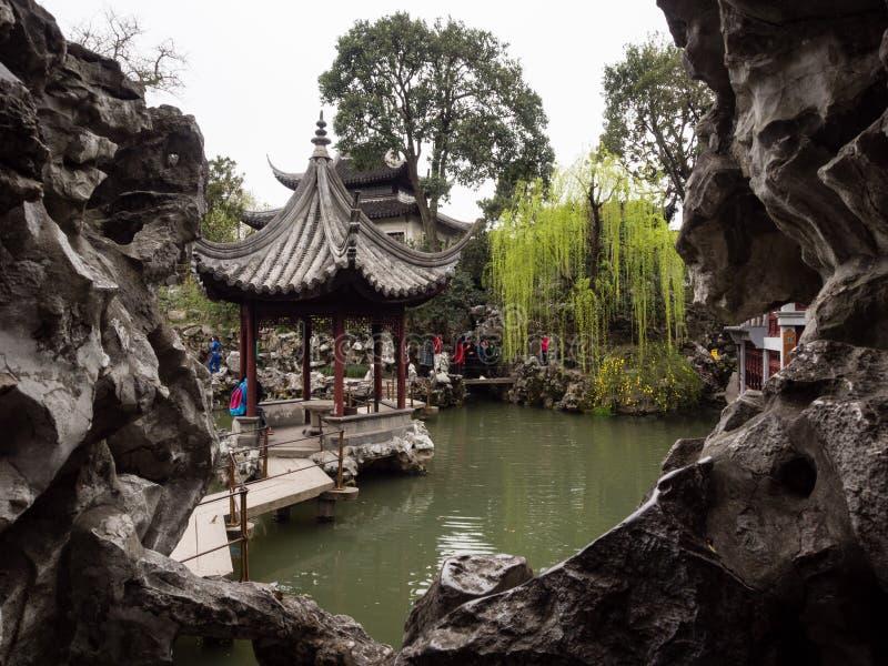 Κήπος αλσών λιονταριών, ένας κλασσικοί κινεζικοί κήπος και ένα μέρος της παγκόσμιας κληρονομιάς της ΟΥΝΕΣΚΟ σε Suzhou στοκ εικόνες
