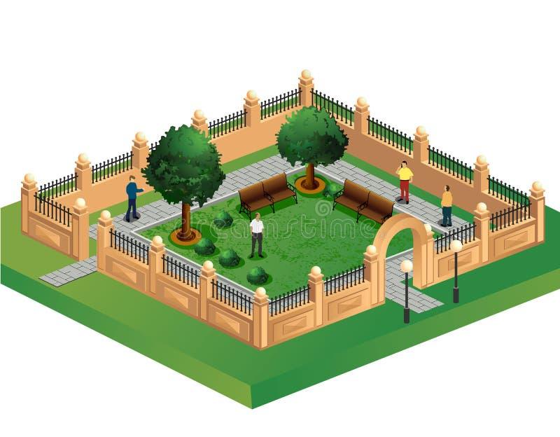 κήπος αστικός ελεύθερη απεικόνιση δικαιώματος