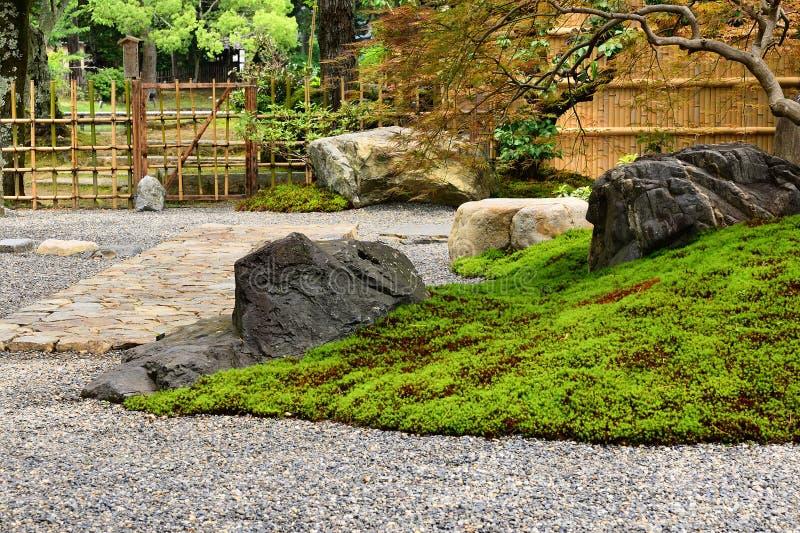Κήπος βράχου, Κιότο Ιαπωνία στοκ εικόνα