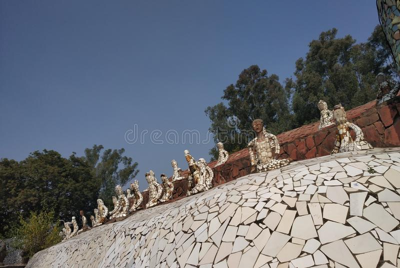 Κήπος βράχου, μουσείο κουκλών, Chandigarh, Ινδία στοκ εικόνα με δικαίωμα ελεύθερης χρήσης