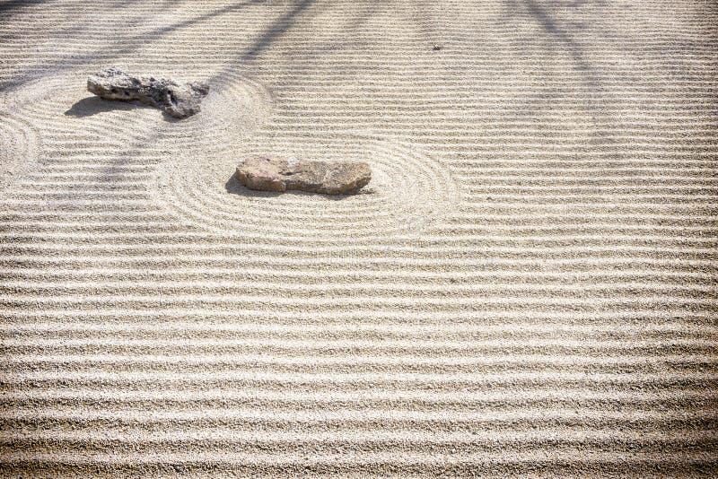 Κήπος βράχου της Zen - σχέδια άμμου στοκ φωτογραφίες με δικαίωμα ελεύθερης χρήσης