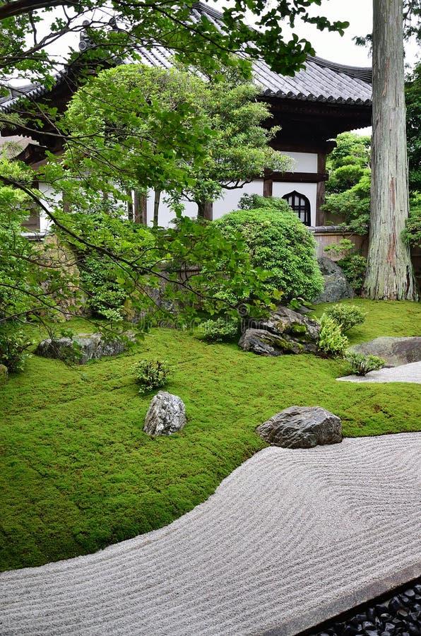 Κήπος βράχου του ναού της Zen, Κιότο Ιαπωνία στοκ φωτογραφία με δικαίωμα ελεύθερης χρήσης