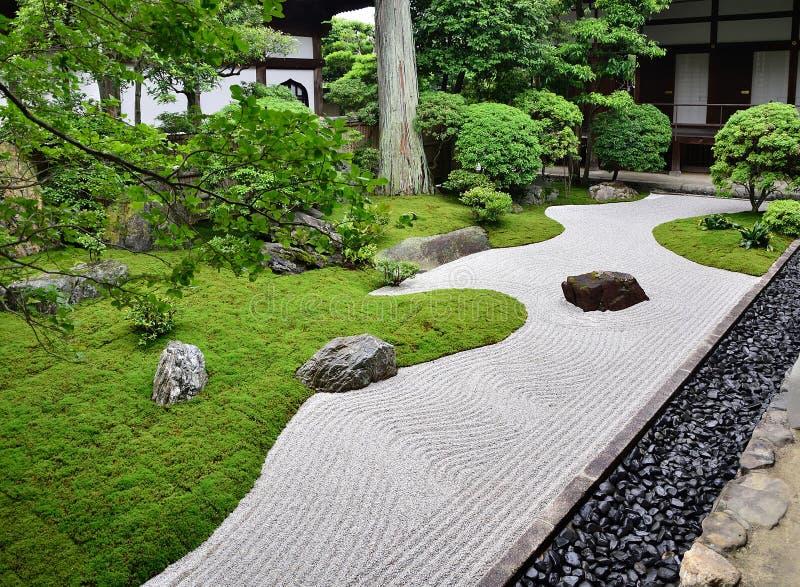 Κήπος βράχου του ναού της Zen, Κιότο Ιαπωνία στοκ φωτογραφία