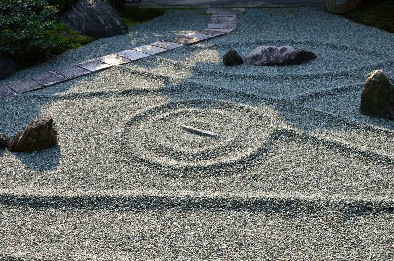 Κήπος βράχου του ναού της Zen, Κιότο Ιαπωνία στοκ φωτογραφίες