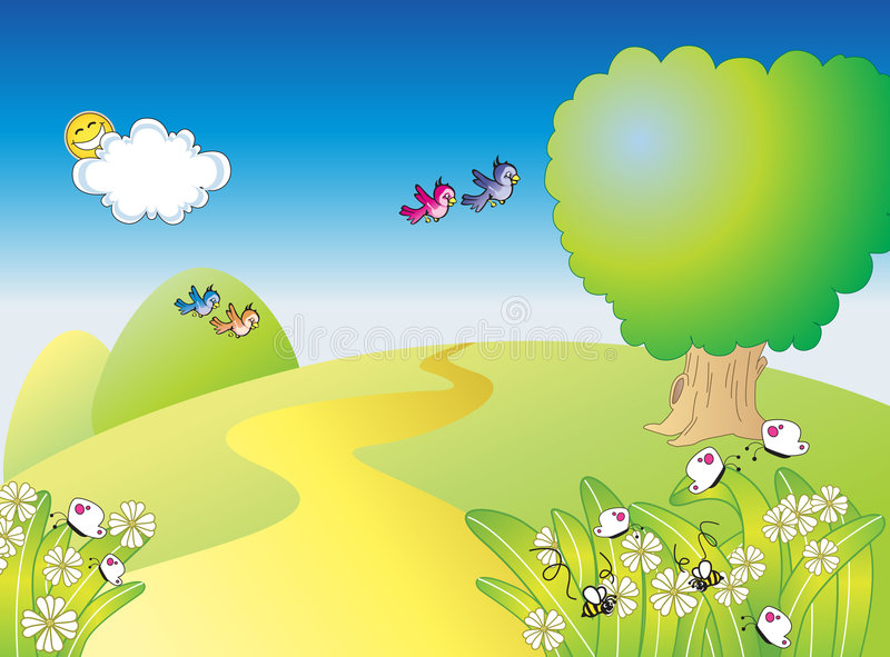 κήπος ευτυχής ελεύθερη απεικόνιση δικαιώματος