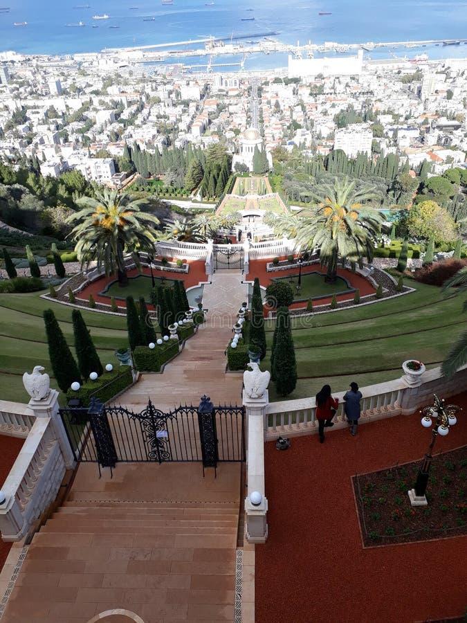 Κήπος Ισραήλ Bahai στοκ φωτογραφίες