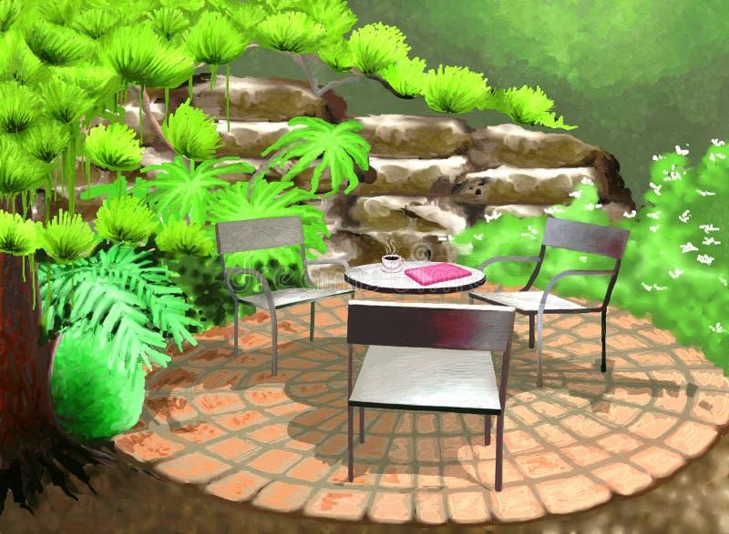 κήπος κατωφλιών απεικόνιση αποθεμάτων