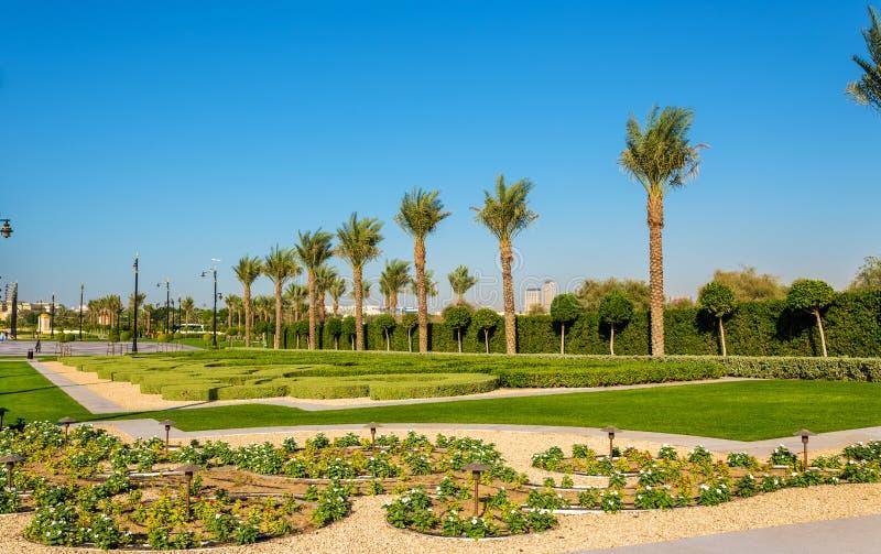Κήπος κοντά στο παλάτι Zabeel στο Ντουμπάι στοκ εικόνα με δικαίωμα ελεύθερης χρήσης