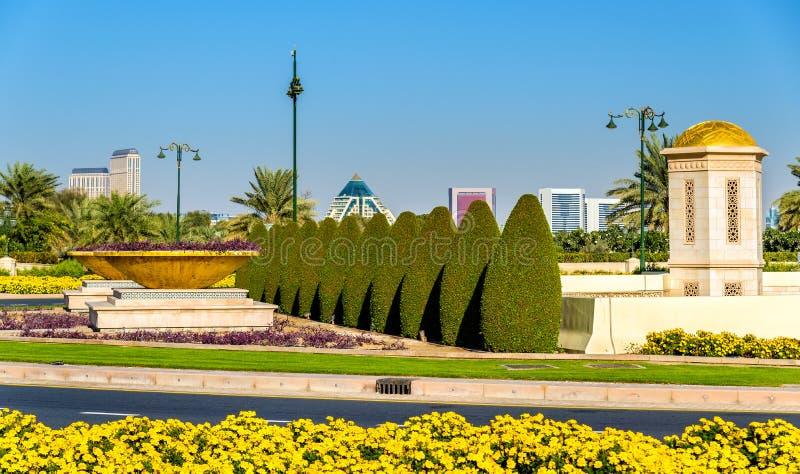 Κήπος κοντά στο παλάτι Zabeel στο Ντουμπάι στοκ φωτογραφία
