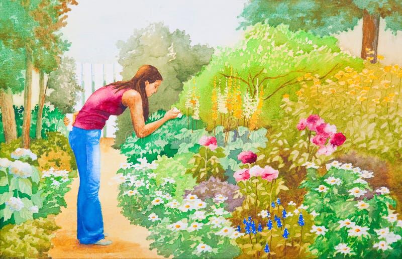 κήπος λουλουδιών ελεύθερη απεικόνιση δικαιώματος