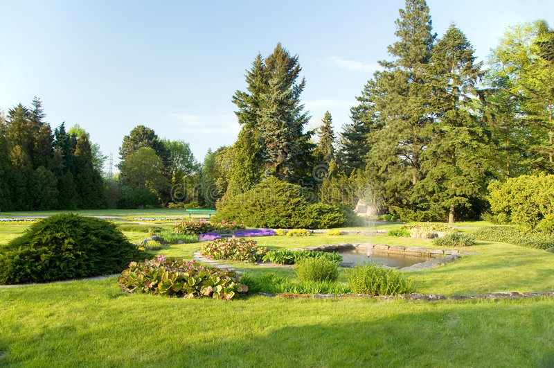 κήπος πηγών στοκ φωτογραφίες με δικαίωμα ελεύθερης χρήσης