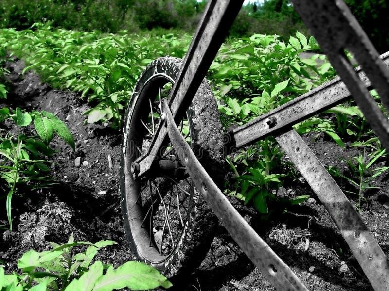 κήπος που οργώνει επάνω Στοκ Εικόνες