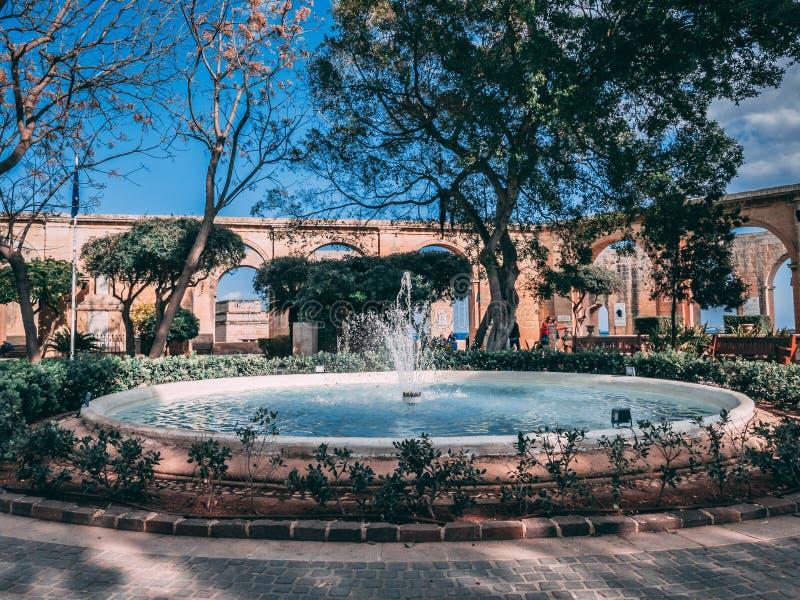 Κήπος σε Valletta στοκ εικόνες