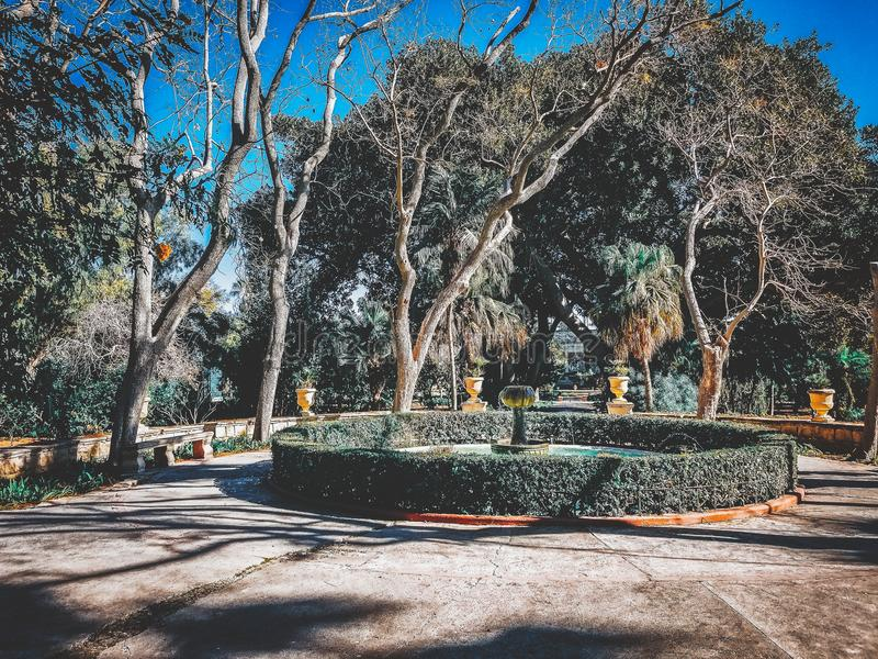 Κήπος σε Valletta στοκ εικόνα