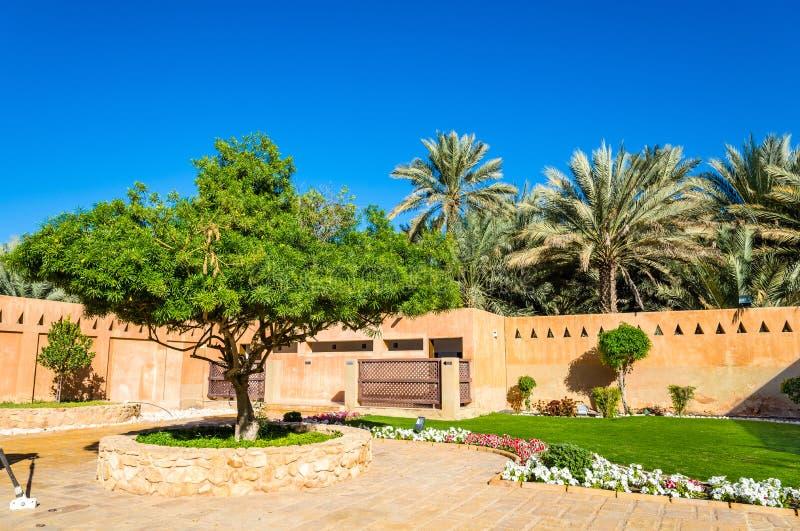 Κήπος στο μουσείο παλατιών Al Ain στοκ φωτογραφία με δικαίωμα ελεύθερης χρήσης