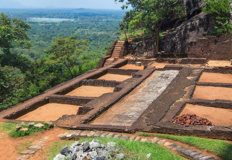Κήπος σύνθετος σε Sigiriya στοκ φωτογραφία με δικαίωμα ελεύθερης χρήσης