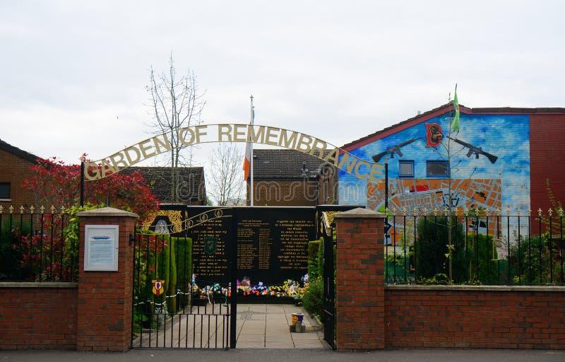Κήπος της ενθύμησης, Μπέλφαστ, Βόρεια Ιρλανδία στοκ φωτογραφία με δικαίωμα ελεύθερης χρήσης