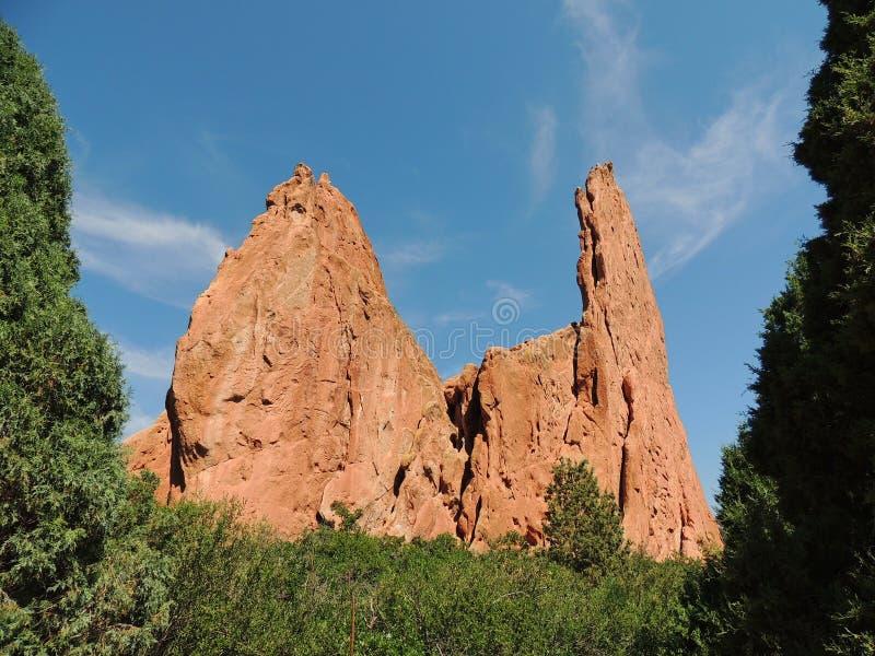 Κήπος του σχηματισμού βράχου Θεών στοκ φωτογραφίες με δικαίωμα ελεύθερης χρήσης