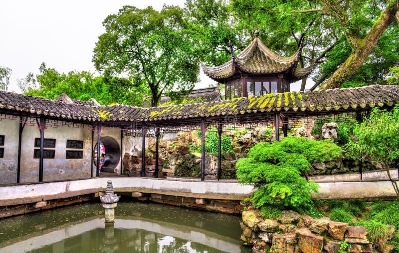 Κήπος του ταπεινού διοικητή, ο μεγαλύτερος κήπος σε Suzhou στοκ εικόνα