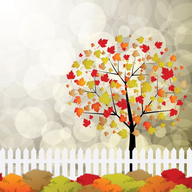 Κήπος φθινοπώρου ελεύθερη απεικόνιση δικαιώματος