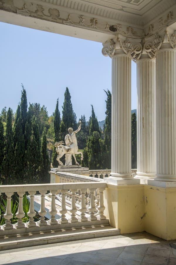 Κήπος Achilleion, Κέρκυρα, Ελλάδα στοκ εικόνα