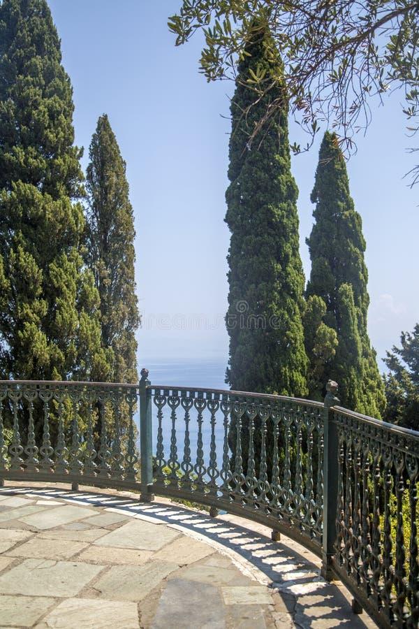 Κήπος Achilleion, Κέρκυρα, Ελλάδα στοκ φωτογραφία με δικαίωμα ελεύθερης χρήσης
