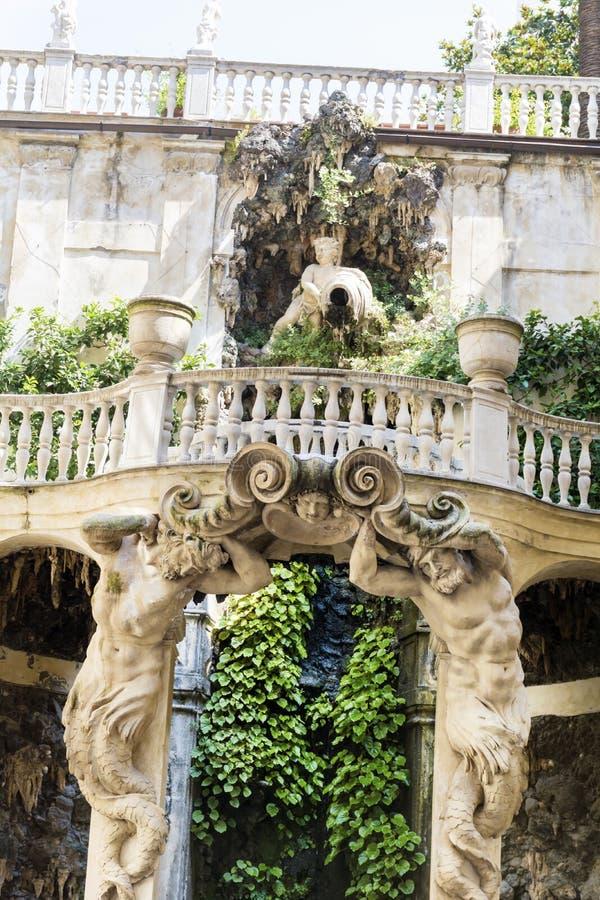 Κήπος Bianco Palazzo, Γένοβα, Ιταλία στοκ φωτογραφία