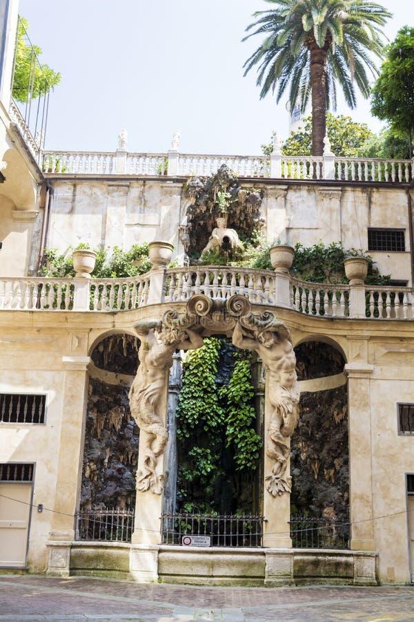Κήπος Bianco Palazzo, Γένοβα, Ιταλία στοκ εικόνα