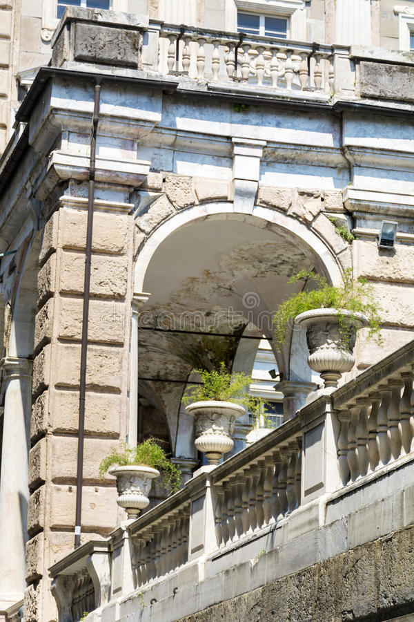 Κήπος Bianco Palazzo στη Γένοβα, Ιταλία στοκ εικόνα με δικαίωμα ελεύθερης χρήσης
