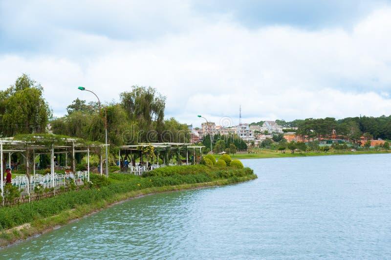 Κήπος Cau Bich στη λίμνη Xuan Huong σε Dalat, Βιετνάμ στοκ εικόνες με δικαίωμα ελεύθερης χρήσης