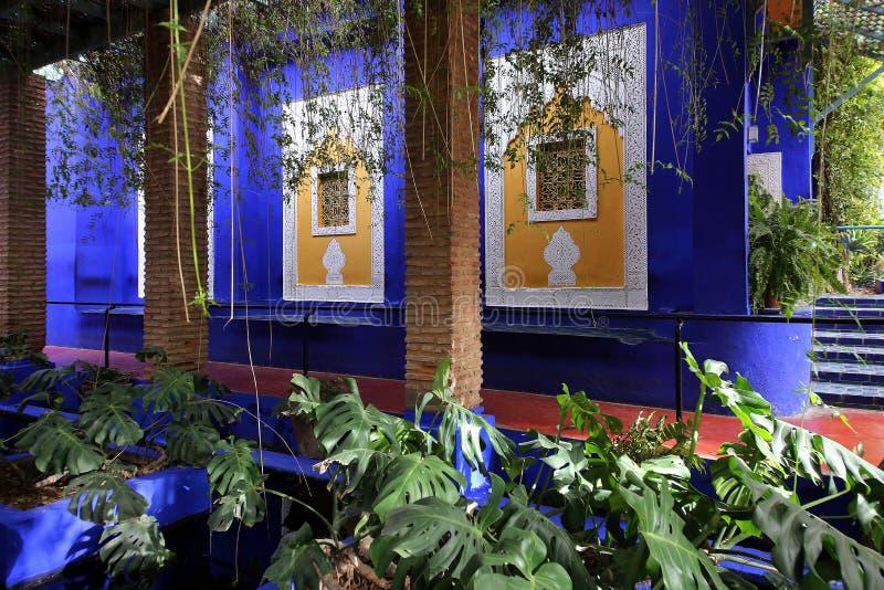 Κήπος Majorelle στο Μαρακές στοκ φωτογραφία με δικαίωμα ελεύθερης χρήσης