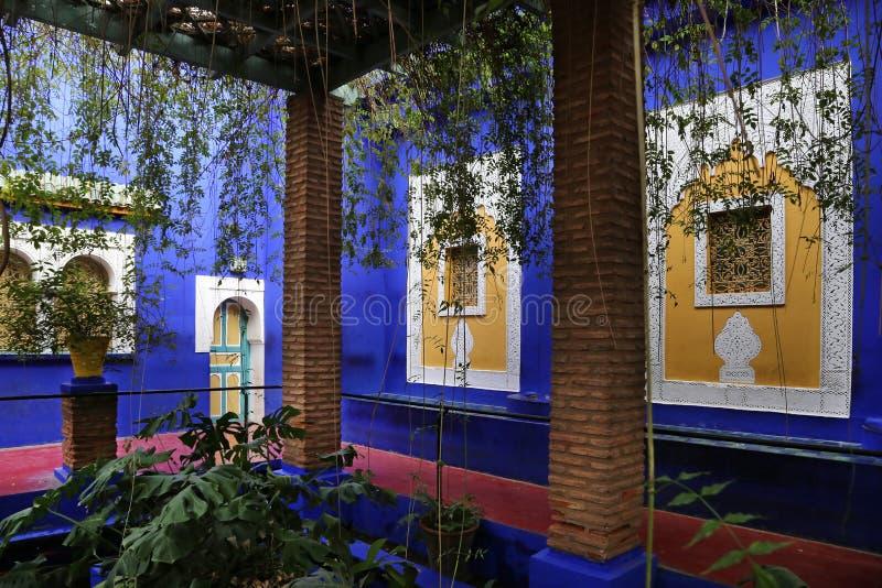Κήπος Majorelle στο Μαρακές, Μαρόκο στοκ εικόνα με δικαίωμα ελεύθερης χρήσης