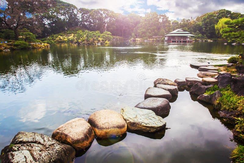 Κήπος Teien Kiyosumi στοκ εικόνα με δικαίωμα ελεύθερης χρήσης