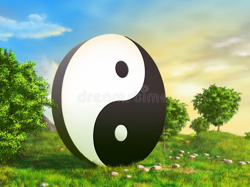 κήπος zen διανυσματική απεικόνιση