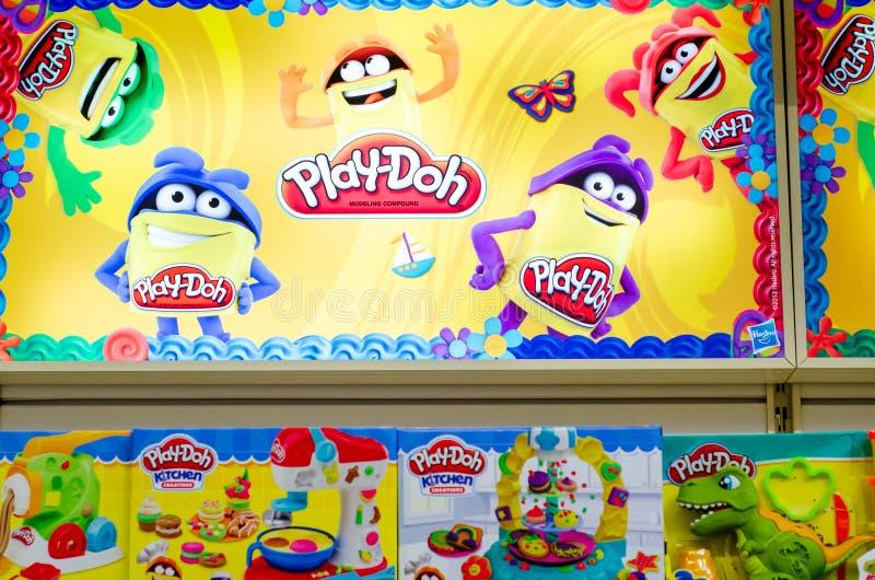 Κίεβο, Ουκρανία - 07 Δεκεμβρίου 2019: Παιχνίδια Play-Doh για πώληση στο κατάστημα στοκ φωτογραφίες με δικαίωμα ελεύθερης χρήσης