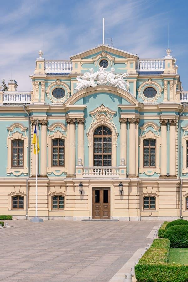 Κίεβο, Ουκρανία - 20 Ιουλίου 2019: Παλάτι Mariinsky Κατοικία του Προέδρου της Ουκρανίας στοκ εικόνα
